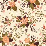 seamless blom- modell abstrakt begrepp blommar dekorativt Ditsy tryck för krusidull Royaltyfri Bild