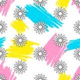 seamless blom- modell bakgrundsbanret blommar datalistor little rosa spiral vektor illustrationer