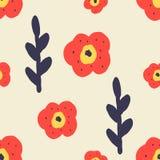 seamless blom- modell bakgrundsbanret blommar datalistor little rosa spiral stock illustrationer