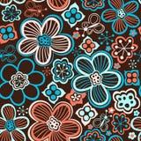 seamless blom- modell Blommor texturerar tusensköna Fotografering för Bildbyråer