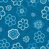seamless blom- modell Blommor texturerar tusensköna Arkivbild