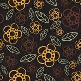 seamless blom- modell Blommor texturerar tusensköna Arkivfoto