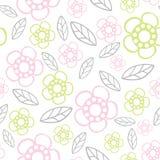 seamless blom- modell Blommor texturerar tusensköna Royaltyfri Bild