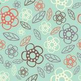 seamless blom- modell Blommor texturerar tusensköna Royaltyfri Foto