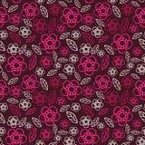 seamless blom- modell Blommor texturerar tusensköna Arkivfoton