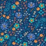 seamless blom- modell Den ljusa illustrationen, kan Royaltyfri Fotografi