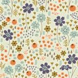 seamless blom- modell Den ljusa illustrationen, kan Royaltyfria Bilder