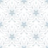 seamless blom- modell den tecknade abstrakt begrepp blommar handen Royaltyfri Foto