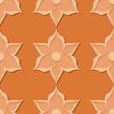 seamless blom- modell Designer för apelsin 3d Royaltyfria Foton