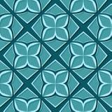 seamless blom- modell Designer för blå gräsplan 3d Arkivbild