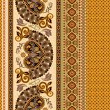 seamless blom- modell Etnisk gränsprydnad Egyptier grek, romersk stil royaltyfri illustrationer
