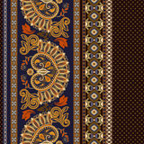 seamless blom- modell Etnisk gränsprydnad Egyptier grek, romersk stil vektor illustrationer