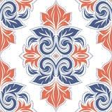 seamless blom- modell för fantasi Tappning paisley beståndsdelar Prydnad royaltyfri illustrationer