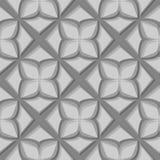seamless blom- modell Gråa designer 3d Arkivbilder