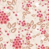 seamless blom- modell Orange rosa färger - röda blommor på en ljus bakgrund Arkivfoto