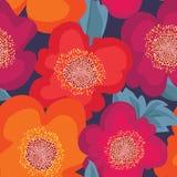 seamless blom- modell playnig för bakgrundsblommalampa blom- prydnad royaltyfri illustrationer