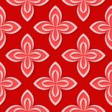 seamless blom- modell Röda designer 3d Arkivbilder