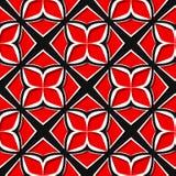 seamless blom- modell Röda och svarta designer 3d Royaltyfri Bild