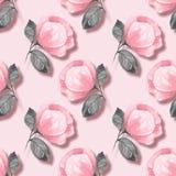 seamless blom- modell Rosa färgblommor 04 royaltyfri illustrationer
