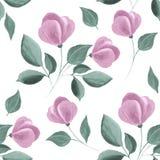 seamless blom- modell vattenfärg Royaltyfria Foton
