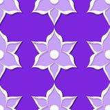 seamless blom- modell Violetta och för lila 3d designer Royaltyfria Foton