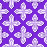 seamless blom- modell Violetta och för lila 3d designer vektor illustrationer