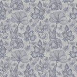 seamless blom- prydnad Royaltyfri Foto