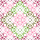 seamless blom- prydnad stock illustrationer