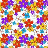 Seamless blom- tecknad film Royaltyfria Bilder