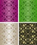 Seamless blom- wallpapers - uppsättningen av fyra färgar. royaltyfri illustrationer
