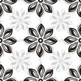 Seamless blommabakgrund royaltyfri illustrationer