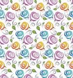 Seamless blommabakgrund för omslag royaltyfri illustrationer