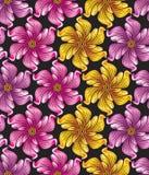 Seamless blommabakgrund för textildesigner Arkivbild