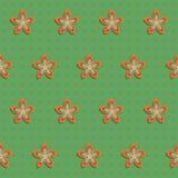 Blommabakgrund i retro utformar Vektor Illustrationer