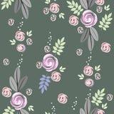 seamless blommaleavesmodell Royaltyfri Fotografi