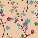 seamless blommamodell Arkivfoton