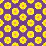 seamless blommamodell Royaltyfria Bilder