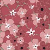 seamless blommamodell Det kan vara nödvändigt för kapacitet av designarbete royaltyfri illustrationer