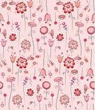 seamless blommamodellpink Royaltyfri Bild
