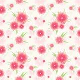 seamless blommamodellpink Arkivfoton