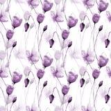 seamless blommamodellvallmo stock illustrationer