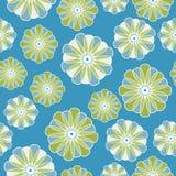 seamless blommaperser stock illustrationer