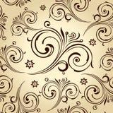 Seamless blommawallpaper. Tappningbakgrund Royaltyfri Bild