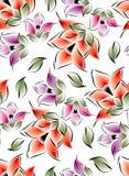 Seamless blommor för textiltyger Royaltyfri Foto