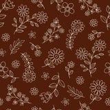 Seamless blommor mönstrar vektorbakgrund royaltyfri illustrationer