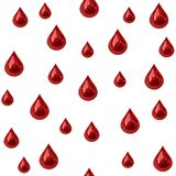 Seamless blood drips Royalty Free Stock Photos