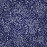 Seamless abstract floral background. Seamless blue abstract floral background Royalty Free Stock Photography