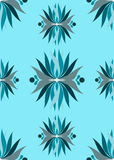 Seamless blue abstract flowers Royalty Free Stock Photography