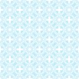 Seamless blue abstract geometric pattern with floral elements arabesques vector illustration
