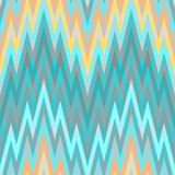 Seamless Blue Abstract Retro Vector Background. Color Abstract Retro Vector Striped Background, Fashion Zigzag Seamless Pattern of Blue and Orange Stripes Stock Photo